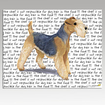 Lakeland Terrier Message Cutting Board - Rectangular