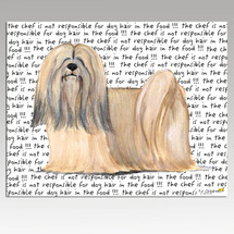 Lhasa Apso Message Cutting Board - Rectangular