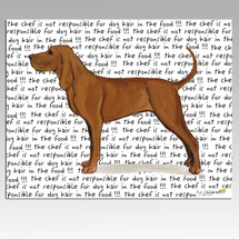 Redbone Coonhound Message Cutting Board - Rectangle