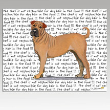 Sharpei Message Cutting Board - Rectangle