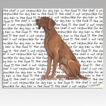 Vizsla Message Cutting Board - Rectangle