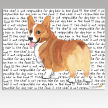 Welsh Corgi Message Cutting Board - Rectangle