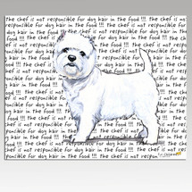 West Highland White Terrier Message Cutting Board - Rectangle