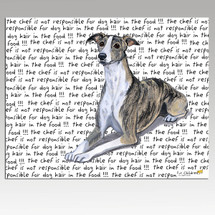 Whippet Message Cutting Board - Rectangle