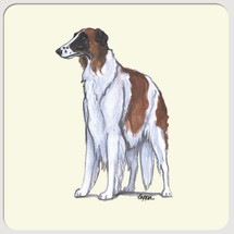 Borzoi Beverage Coasters