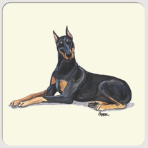 Doberman Pinscher Beverage Coasters