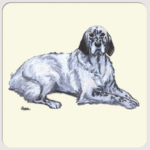 English Setter Beverage Coasters
