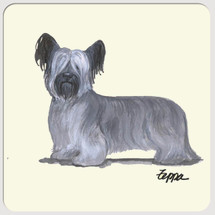 Skye Terrier Beverage Coasters