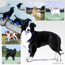 Border Collie Scenic Coasters