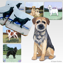 Border Terrier Scenic Coasters