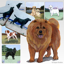 Chow Chow Scenic Coasters