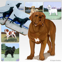 Dogue de Bordeaux Scenic Coasters