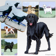 Flat Coated Retriever Scenic Coasters