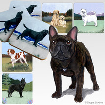 French Bulldog Scenic Coasters