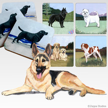 German ShepherdScenic Coasters