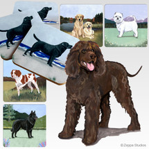 Irish Water Spaniel Scenic Coasters