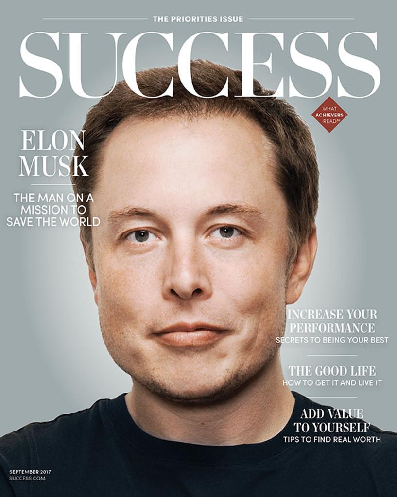 Success Magazine September 2017- Elon Musk