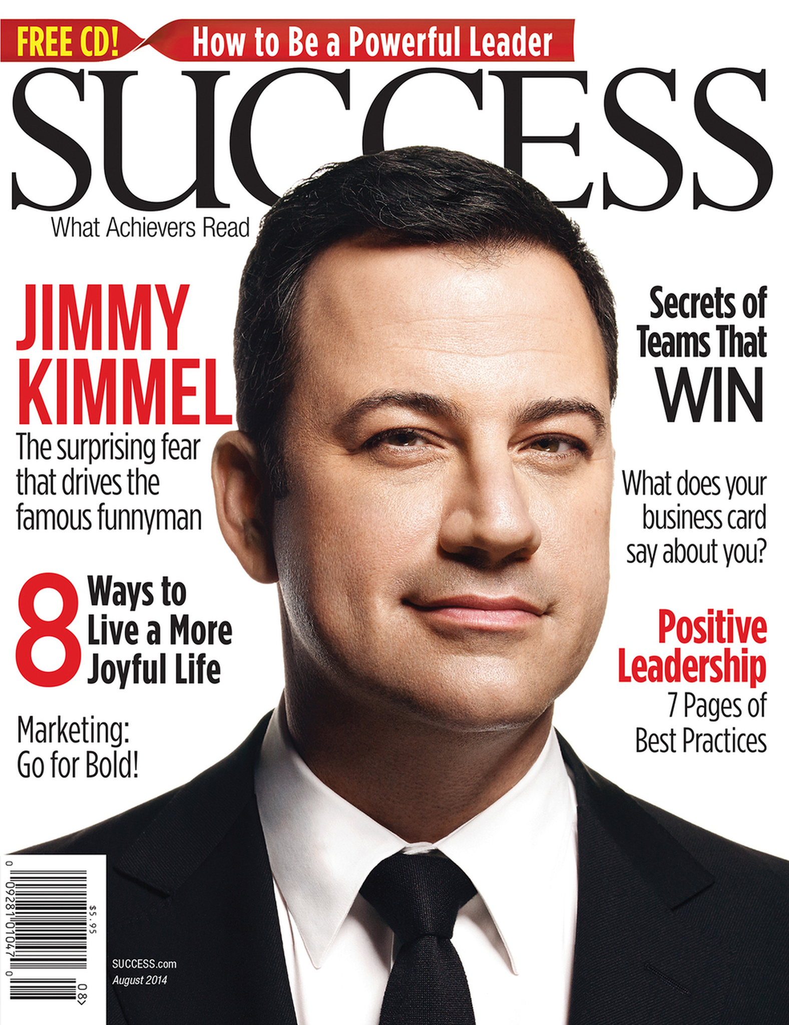 success magazine august 2014 jimmy kimmel