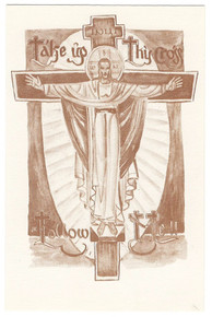 """Holy Card- """"Take Up Thy Cross"""" Holy Card pack"""