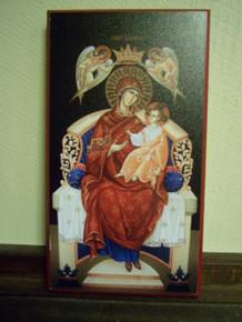 Icon- Theotokos Enthroned (Camelia Toma)