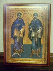 Icon- Saints Cosmas & Damian (2) - small