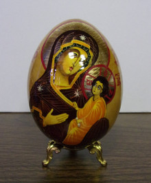 Egg- Small Theotokos Icon Egg with Stand