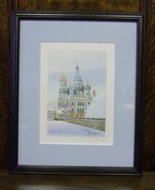 Wall Art- Russian Church in Winter (1)