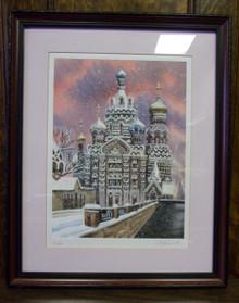 Wall Art- Russian Church in Winter (4)