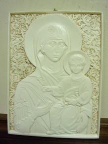 Icon- Ivory Theotokos Icon