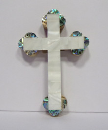 Cross- Wood Wallcross with Mosaic Embellishment