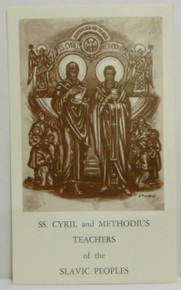 Holy Card- Sts. Cyril & Methodius Holy Card With Prayer (2)