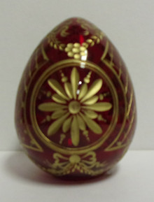 Egg- Glass Pysanky (Red)
