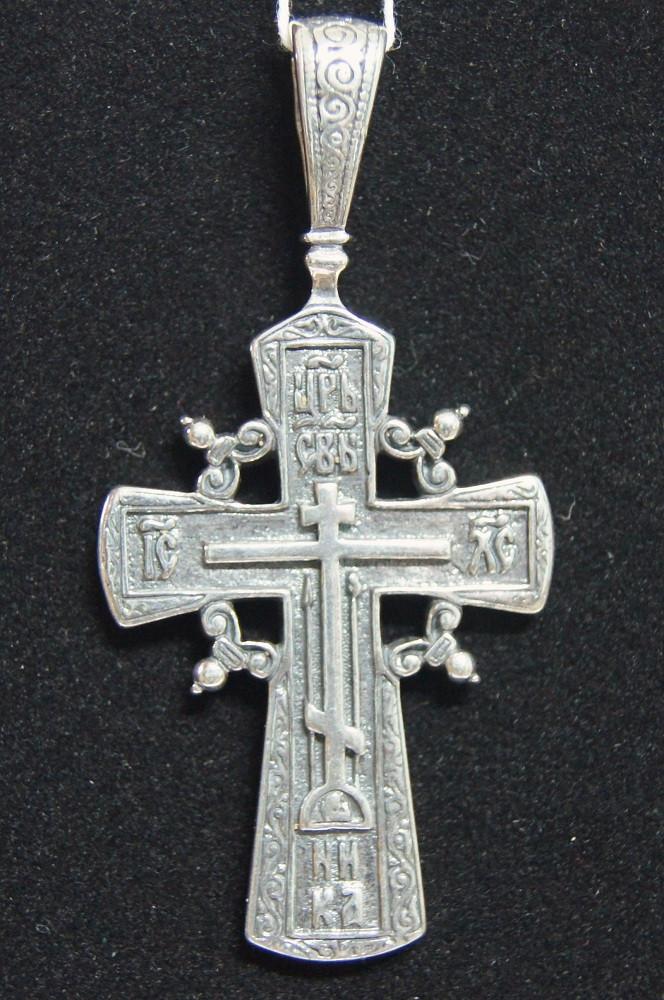 Jewelry orthodox cross pendant byzantine seminary press image 1 aloadofball Gallery