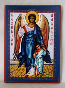 Icon- Guardian Angel with Boy - small