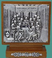 Icon- Last Supper Icon Shrine (Silver)