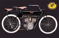 1906 Curtiss Twin Motorcycle Postcard