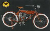 1908 Reading Standard Motorcycle Postcard