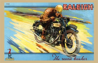 Raleigh 'The Record Breaker' Motorcycle Postcard