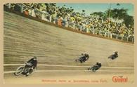 Luna Park Motorcycle Races Postcard