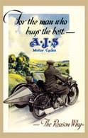 AJS Motorcycle Postcard