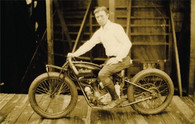 Coney Island Motorcycle Postcard