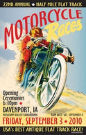 22nd Annual 2010 Davenport Motorcycle Races Poster