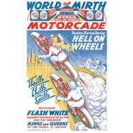 World of Mirth Motorcade/Wall of Death Poster