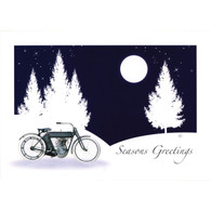 Snow Bike Christmas Postcard