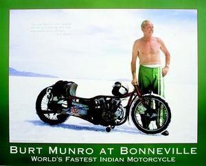 Burt Munro 'World's Fastest Indian' Bonneville Poster