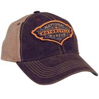 National Motorcycle Museum Black Antique Logo Mesh Cap