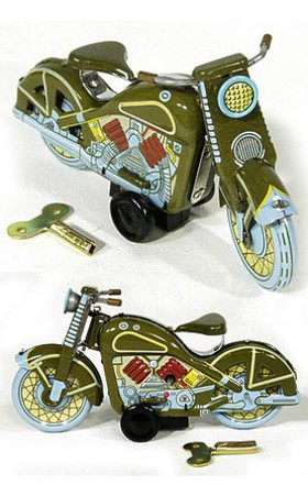 Harley Motorcycle 1958 Green Classic