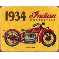 1934 Indian Motorcycle Tin Sign