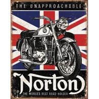 Norton World's Best Road Holder Tin Sign