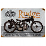 Basney's Rudge Metal Sign